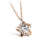 【5折超值價】 情人節禮物 韓版最新流行款星星鑲鑽潮流設計項鍊