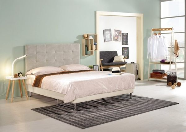 【新北大】✪ B162-1 美諾6尺米白色布雙人床 -18購