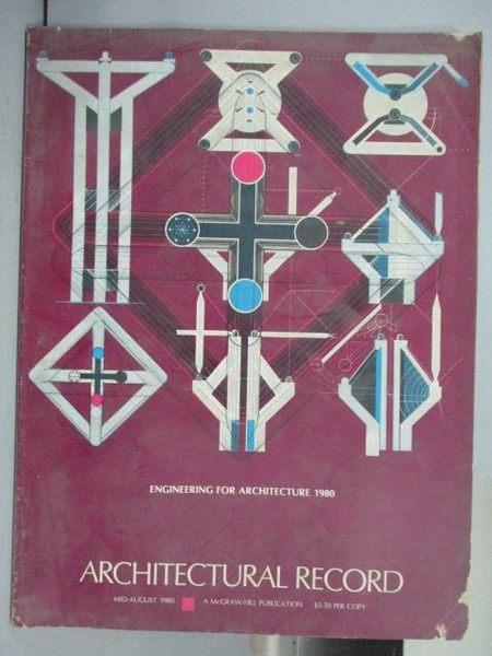 【書寶二手書T7/建築_PPP】Architectural Record_1980Mid-Aug