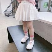女童短裙 中小童裝白裙子兒童洋氣短裙女童百搭半身裙寶寶JK裙2021夏裝新款【快速出貨】