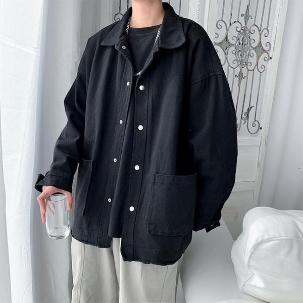 外套夾克 春秋季男士韓版寬鬆工裝夾克學生帥氣ins潮百搭港風潮牌復古外套 果果生活館