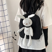 ins日繫軟妹古著感少女書包韓國ulzzang可愛兔子玩偶學生後背包萌 韓國時尚週