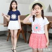 短袖洋裝童裝兒童套裝夏裝2020新款中大女童套裙時髦韓版潮洋氣兩件套 LR23055『3C環球數位館』