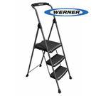 美國Werner穩耐安全梯-SP323-6 胖小子鐵製3階家用梯   超大平台 鋁梯 A字梯 梯子