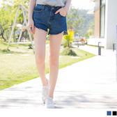 OrangeBear《BA2167》微挺美型褲管切口牛仔短褲‧2色--適 2L~5L