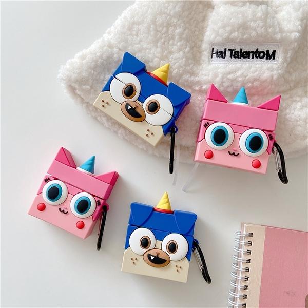 Airpods Pro 專用 1/2代 台灣發貨 [ 可愛獨角貓咪 ] 藍芽耳機保護套 蘋果無線耳機保護