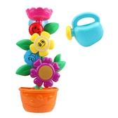 寶寶洗澡玩具兒童浴室戲水花朵轉轉樂嬰兒噴水壺浴盆水車男孩女孩
