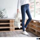 OB嚴選《BA2789-》個性刷白抓破顯瘦牛仔窄管褲.2色--適 S~XL