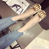 平底鞋女鞋子女水鉆方扣軟底平跟單鞋方頭淺口平底鞋女鞋瓢鞋 伊蒂斯女裝