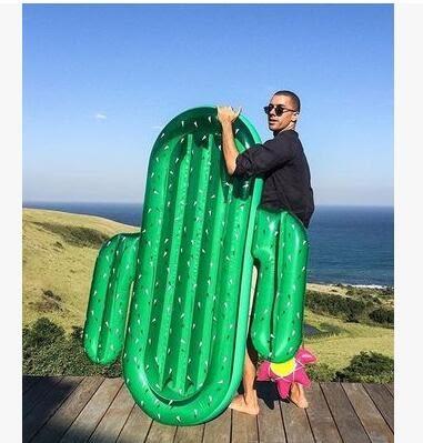 充氣菠萝浮排獨角獸水上坐騎成人鳳梨游泳圈  主圖款【綠色仙人掌】
