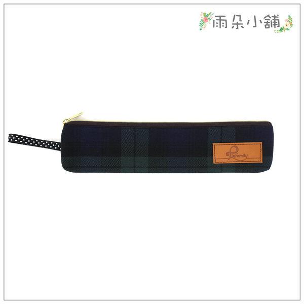 筷套 包包 防水包 雨朵小舖M297-009 經典長筷套-格紋綠01002 funbaobao