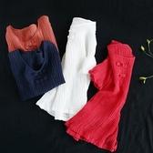 短袖T恤-復古盤扣褶皺純色女打底衫4色73sj96【巴黎精品】