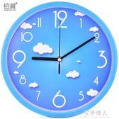 掛鐘-鉑晨靜音掛鐘客廳個性鐘表現代簡約鐘家用石英鐘圓形時鐘創意掛表 完美情人館