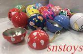 sns 合金 神奇寶貝球 寶貝球 精靈球 扭蛋 小球 扭蛋球 直徑7公分 圖案顏色隨機出貨 1顆$50元