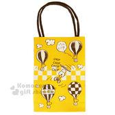 〔小禮堂〕史努比 紙膠帶《1入.黃黑.小黃鳥.熱氣球.10mm》手提紙袋包裝 4901610-62834