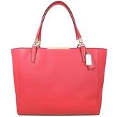 COACH SAFFIANO 防刮皮革托特包 肩背包 (橘紅色)-29002