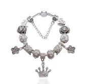 手鍊 串珠-鑲鑽飾品純白皇冠生日情人節禮物女配件73bf13[時尚巴黎]