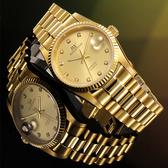 【台南 時代鐘錶 勞斯丹頓】ROSDENTON 經典珍藏女錶 6062LG-2G 金 27mm