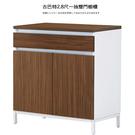 【UHO】艾美爾系統2.8尺一抽雙門餐櫃(北美胡桃) 免運費 HO18-732-1