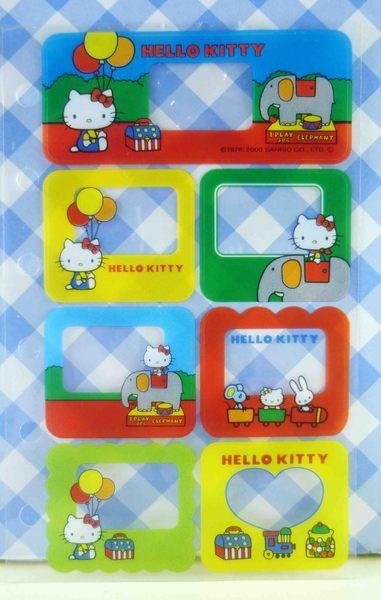 【震撼精品百貨】Hello Kitty 凱蒂貓~KITTY貼紙-六孔框象