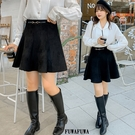 (現貨+預購 FUWAFUWA)-加大尺碼知性麂皮絨短裙