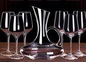 醒酒器 紅酒杯套裝家用醒酒器歐式大號小玻璃水晶杯葡萄酒高腳杯創意酒具【快速出貨八折搶購】