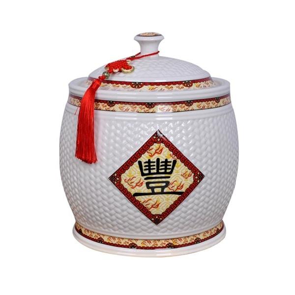 米箱 陶瓷米缸米桶米箱家用儲物罐防潮防蟲密封帶蓋5kg20斤景德鎮30斤 南風小鋪