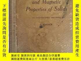 二手書博民逛書店the罕見electrical and magnetic pro