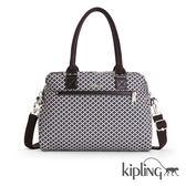 Kipling 簡約菱格手提側背包-大