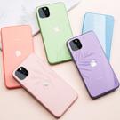 [現貨] 蘋果 iPhone X/XS/XR/XS MAX/8/7/6 馬卡龍液態矽膠防摔鋼化玻璃手機殼【QZZZ30253】
