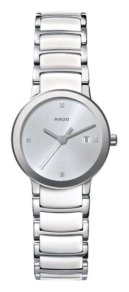 RADO Centrix晶萃系列-R30928722-原廠公司貨/28mm/白陶