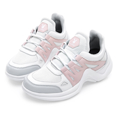 PLAYBOY Fantastic流線 兔兔老爹鞋-白粉(Y5228白粉)