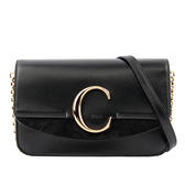 【CHLOE】C CLUTCH 鏈帶斜背包(黑色) CHC19SS192A37001