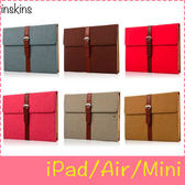 【萌萌噠】iPad234 Mini1/2/3/4 Air1/2  新款小羊皮公文包平板殼 智慧休眠 三擋支架 全包平板套 皮套