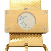 BALENCIAGA 巴黎世家 金色不銹鋼石英腕錶 MONTRE ACIER WATCH 1213【BRAND OFF】