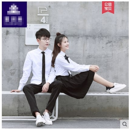 小鄧子班服校服套裝男女學院風韓版初高中大學生情侶襯衫制服表演服