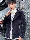 西裝外套 冬季短款毛呢大衣男青年韓版修身加厚 超級玩家