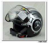 【ZEUS 瑞獅 ZS 218 SS6 白/黑 安全帽 飛行帽】W飛行鏡 抗UV、通風 涼爽款