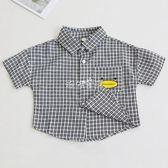 男嬰短袖襯衫 男童襯衫短袖新款嬰兒格子襯衣0-1-3歲寶寶休閒上衣 珍妮寶貝