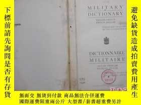 二手書博民逛書店館藏罕見Military Dictionary English-
