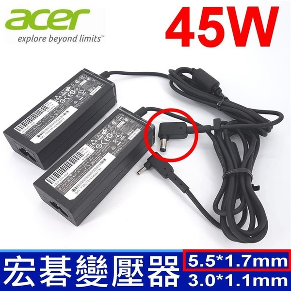 宏碁 Acer 45W 原廠規格 變壓器 Gateway EC19C LT23 LT28  NE512 eMachines 350 355 Chromebooks AC700 Iconia W500 W500P