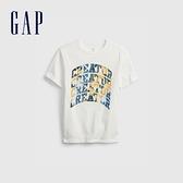 Gap男童 潮酷純棉印花短袖T恤 683400-白色
