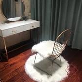 椅子坐墊鏤空凳子座墊桌面裝飾毛毛墊【櫻田川島】