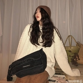 牛仔包側背包女新款韓版潮簡約百搭帆布包牛仔布包斜背包包 coco衣巷