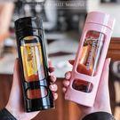 【雙層玻璃保溫杯】保溫瓶 塑玻杯 真空玻璃內膽保溫瓶 防彈咖啡 生酮咖啡杯 耐熱保溫 400ML