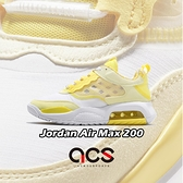 Nike 休閒鞋 Jordan Air Max 200 黃 白 女鞋 運動鞋 氣墊 【ACS】 CJ3840-700