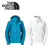 【The North Face 女 GT WIND PRO兩件式外套《藍白》】F13P-BLU/兜帽外套/防水/防風/抗寒/風衣