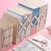 可伸縮書立架簡約立書放書架桌上折疊收納書學生【櫻田川島】