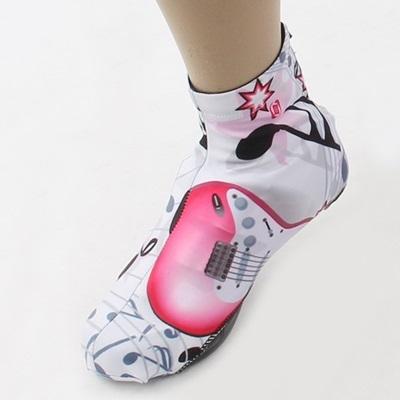 自行車卡鞋鞋套-舒適耐磨時尚吉他印花單車鞋罩73nv11【時尚巴黎】