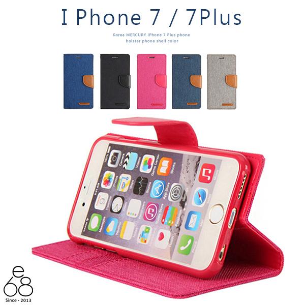 韓國 MERCURY iPhone 7 8 / 7Plus 8PLUS 手機皮套 雙色 手機殼 牛仔紋皮套 保護套 手機套 軟殼 手機支架